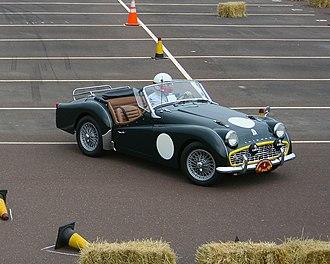 Triumph TR3 - Competition 1960 Triumph TR3 2.2 litre in pit lane