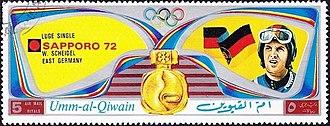 Wolfgang Scheidel - Scheidel on a stamp of Umm al-Quwain