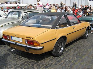 Vinyl roof - 1975 Opel Manta with factory fitted Vinyl roof