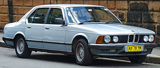 BMW 7 Series (E23) - 1985 BMW 735i (Australia). Note the wider and more angular twin-port grille compared to the 1977–1983 cars.
