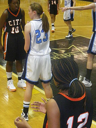 Maryland Public Secondary Schools Athletic Association - River Hill's girls compete for a Class 2A girls' basketball state championship in 2009 at UMBC's Retriever Activities Center in Catonsville.