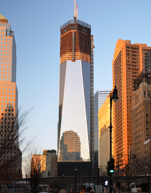 One World Trade Center in popular culture - One World Trade Center under construction in 2012.