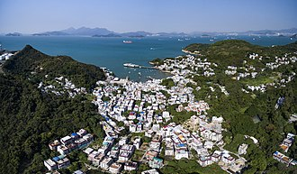 Lamma Island - Aerial photo of Yung Shue Wan, Lamma Island