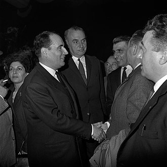 François Mitterrand - Mitterrand during 1965 presidential election campaign