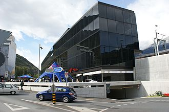 Visp railway station - The new station building from the street.