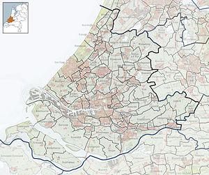 Zweth - Image: 2010 NL P08 Zuid Holland positiekaart gemnamen
