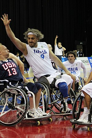 2010 Wheelchair Basketball World Championship - Image: 2010 World Wheelchair Basketball Championship Italy v USA Men's Bronze Medal Game 20100717