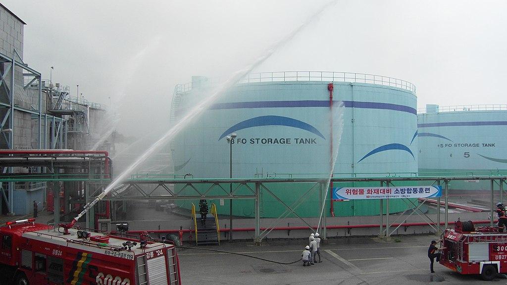 2011년 7월 25일 영동화력발전소 소방합동훈련 SDC10784