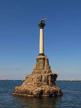 Sevastopol - The Monument to the Sunken Ships, dedicated to ships destroyed during the siege of Sevastopol during the Crimean War, designed by Amandus Adamson