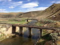2014-06-21 16 38 14 Railroad bridges over the Humboldt River near Hunter, Nevada.JPG