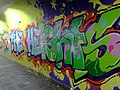 2015 191st Street IRT station tunnel Welcome to The Heights.jpg