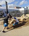 2015 Punta del Este ePrix - Racecar sculpture.JPG