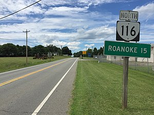 Virginia State Route 116 - View north near the south end of SR 116