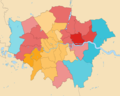 2019 European Parliament election in the United Kingdom area results (Greater London) with Gradation.png