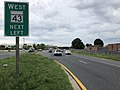 2020-08-03 16 19 42 View east along Maryland State Route 150 (Eastern Boulevard) at the exit for Maryland State Route 43 WEST (White Marsh Boulevard) in Middle River, Baltimore County, Maryland.jpg