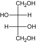 (2R,3R)-Threit (Fischer-Projektion)