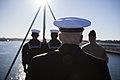 31st MEU Marines man the rails aboard the USS Bonhomme Richard (LHD-6) 150625-M-CX588-044.jpg
