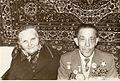 345Шофер медсанбату Олена Олексіївна та почесний громадянин міста Ананьїв Рашмаш Абсатарович. 1953 р.jpg