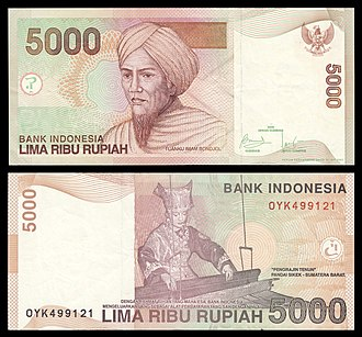 Islam in West Sumatra - Tuanku Imam Bonjol featured in the 5,000-rupiah banknote issued by Bank Indonesia.