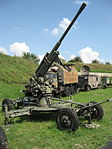 52-K anti-aircraft gun at the Muzeum Polskiej Techniki Wojskowej in Warsaw.jpg