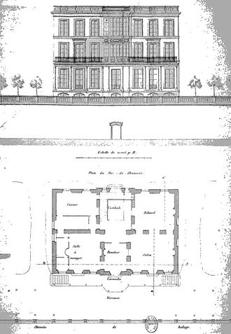 François Coignet - 72 rue Charles-Michels   1855 architectural drawing