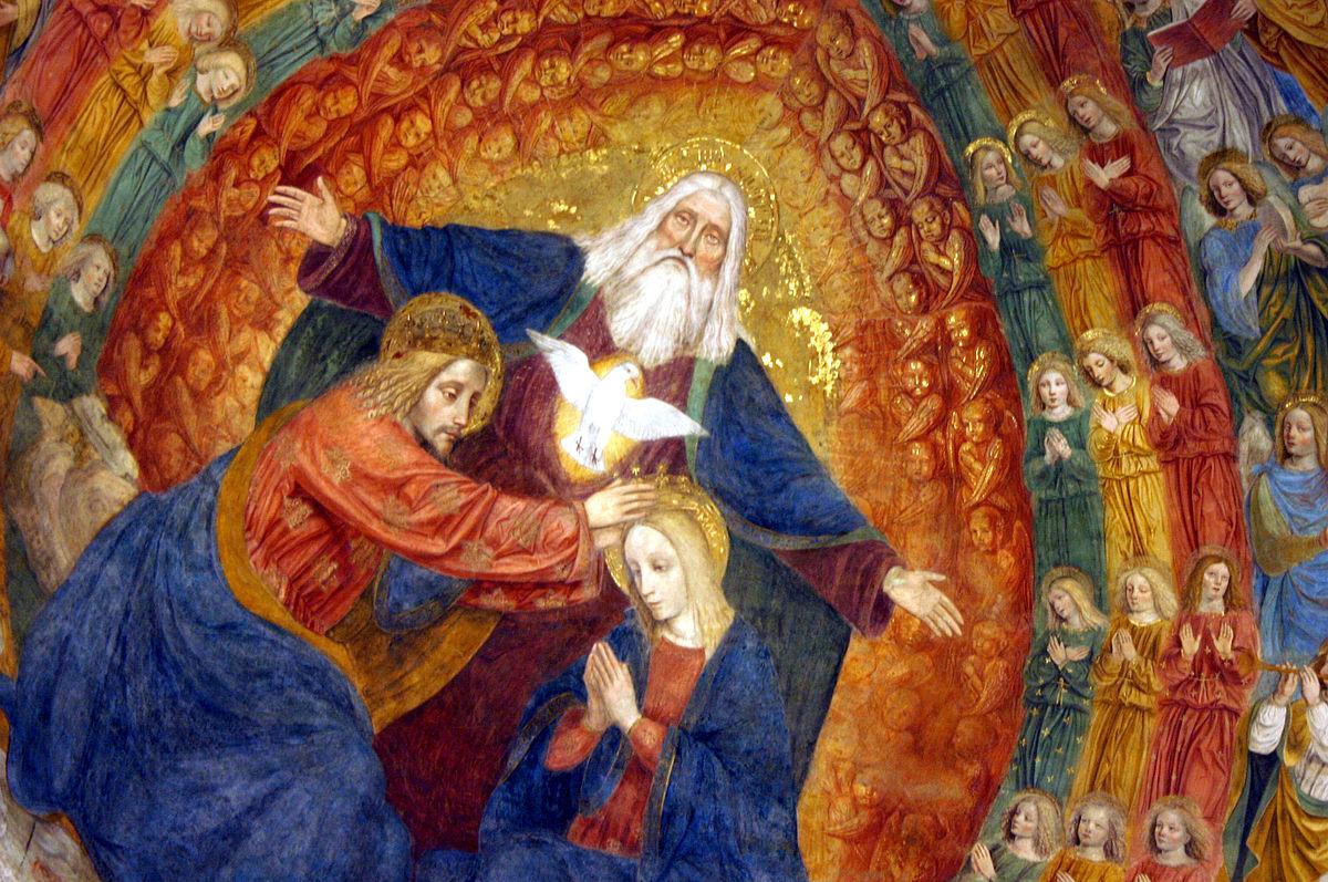 Milano - San Simpliciano - Affresco del Bergognone nel catino absidale