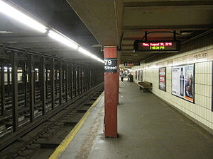 79th Street (IRT Broadway–Seventh Avenue Line) - Downtown platform