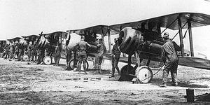 95th Aero Squadron - 95th Squadron Nieuport 28s at Gengault Aerodrome, June, 1918