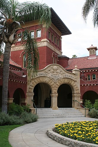 National Register of Historic Places listings in San Bernardino County, California - Image: A.K. Smiley Public Library