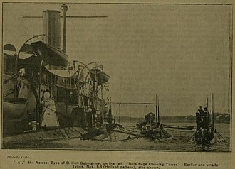 HMS A1 - Image: A1 Submarine May 1904