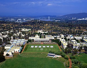 Australian Defence Force Academy - Aerial view of the ADFA campus
