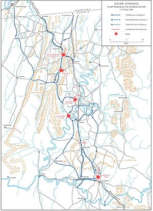 Atlanta Campaign - ATLANTA CAMPAIGN, Union advance: Chattanooga to Etowah (May 7–19, 1864).