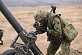 A Japanese Ground Self-Defense Force soldier gets his coordinates during a patrolling exercise as part of Dawn Blitz 2013 at Camp Pendleton, Calif., June 12, 2013 130612-M-JU912-055.jpg