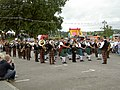 A Pipe Band at a Festival in Kirkcudbright - geograph.org.uk - 536538.jpg