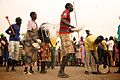 A community arts group are sharing hygiene promotion messages through performance in Lankien, South Sudan (16283276973).jpg