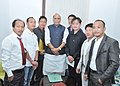 A delegation of All Arunachal State Student Union led by Shri Kamata Lapon calling on the Union Home Minister, Shri Rajnath Singh in New Delhi on May 03, 2015.jpg