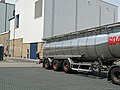 A milk truck near the dairy company in Beilen; the Netherlands, 2012.jpg