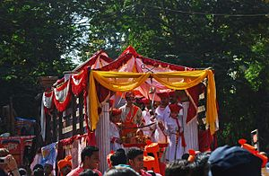 Gudi Padwa - The Gudi Padwa festival marks the new year, but also celebrates victory of Maratha warriors in processions.