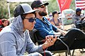 A youth and a veteran listen to a lecture from Chad Brown at a Soul River Inc. deployment on the Owyhee River in the BLM's Vale District. (28156726133).jpg