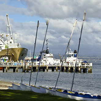Port of Tauranga - View of the port from Pilot Bay