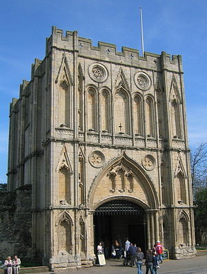 Bury St Edmunds Abbey - Abbey Gate, rebuilt in the mid-14th century