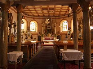 Abertamy - Inside church building in Abertamy