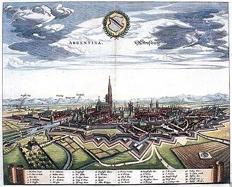 History of Strasbourg - Strasbourg as seen in 1644