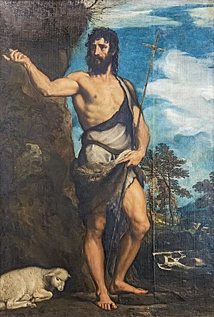 Prophet - A 1542 painting of John the Baptist by Titian