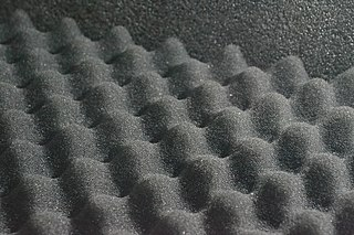 Acoustic foam Open celled foam used for soundproofing
