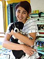 Ada - Worker at Hostel Mi Casa es Tu Casa - With Puppy - Shkodra - Albania (41904372574).jpg