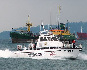 Coast Guard of Georgia - The Georgian Coast Guard boat P-107 off Batumi in 2010.