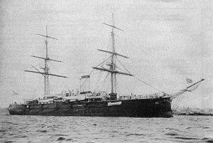 Russian armoured cruiser Admiral Nakhimov - Admiral Nakhimov in 1888-1893