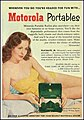 Advertising For the Motorola Playmate, Jr. Portable Radio, Model 51M, In The Quick Pocket News Weekly Magazine, Vol. 4, No. 24, June 11, 1951 (37269788085).jpg