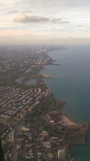 South Shore, Chicago - Aerial view of South Shore and Hyde Park in 2015